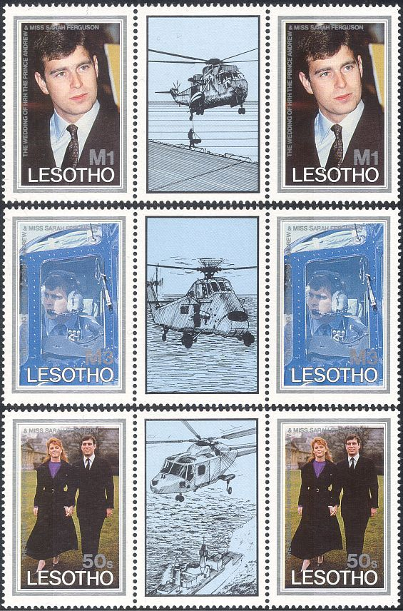 Lesotho 1986 Prince Andrew Royal Wedding Royalty
