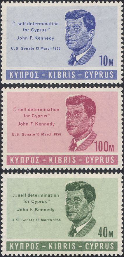 Cyprus 1965 President John F Kennedy JFK Politics Politicians People 3v Set N46096