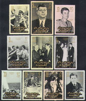 Fujeira 1965 JFK John F Kennedy President Politics People 10v Set N37251